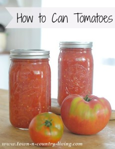 How to Can Crushed Tomatoes