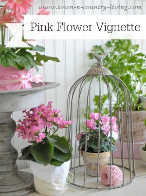 How to Create a Floral Vignette