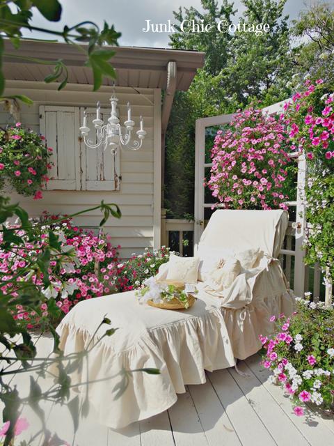 Chaise Lounge in Backyard Garden
