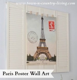 DIY Paris Poster Wall Art