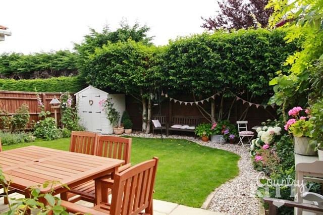 Summer in a Backyard England Garden