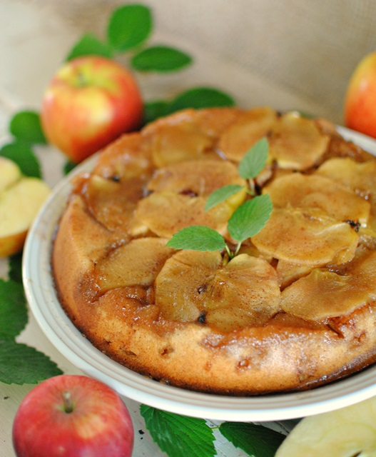 Apple upside down cake town country living for Best ever apple cake country living