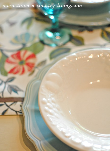 Blue and White Mismatched Dinnerware
