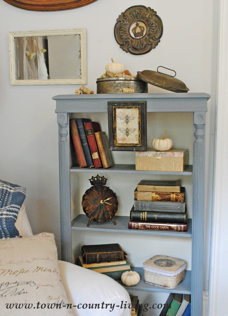 Bookcase Makeover From Plain White To A Painted Two Toned Application