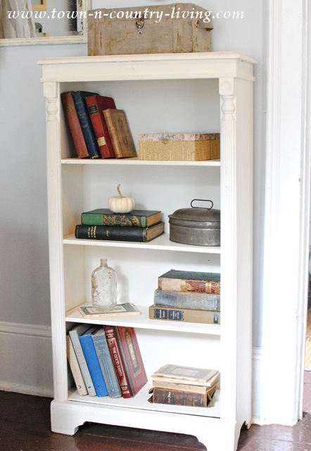 Little White Bookcase Before Her Makeover