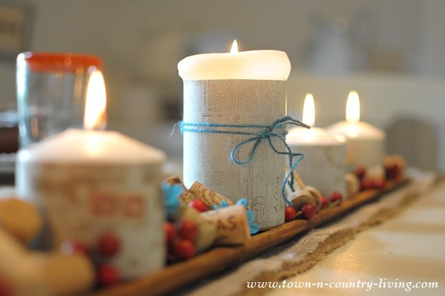 Candles on a French Bread Board