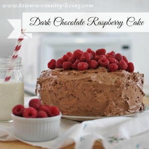 Dark Chocolate Raspberry Cake