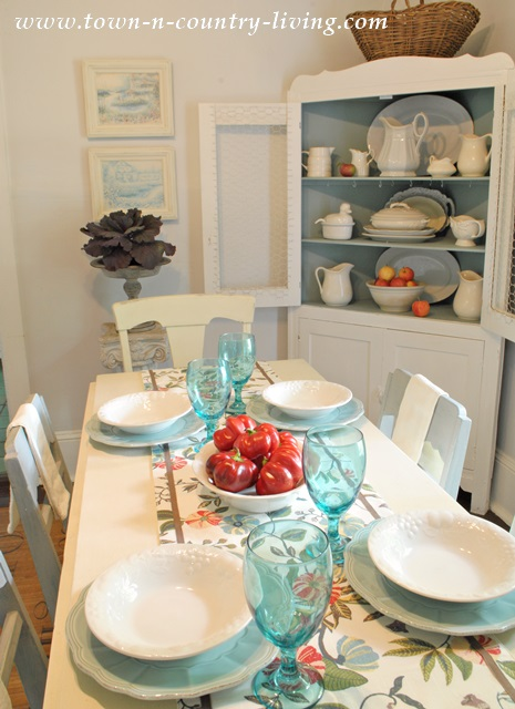 Farmhouse Dining Table Set for Early Fall
