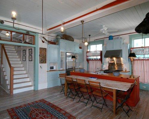 Coastal style kitchen in Florida Beach Cottage
