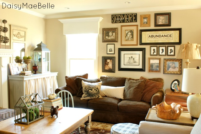 Charming home tour daisy mae belle town country living - Family pictures on living room wall ...