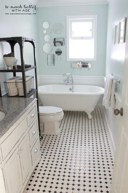 Vintage Bathroom with Claw Foot Tub