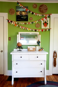 DIY Home Decor. Use apple green on an accent wall for added drama.