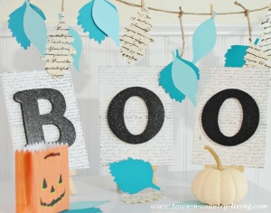 DIY Boo Sign for Halloween