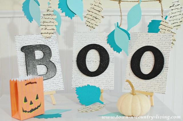 DIY Halloween Boo Sign