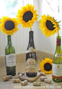 Simple Sunflower Arrangement