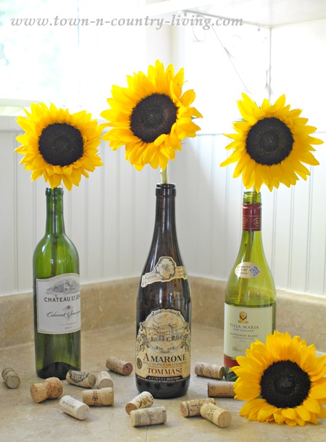 Simple sunflower arrangement town country living