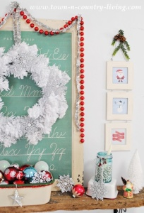 Christmas Mantel and Free Printable