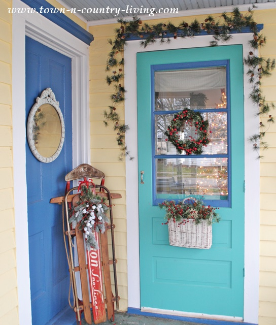 christmas decor on my farmhouse porch - Decorating Porch For Christmas Country