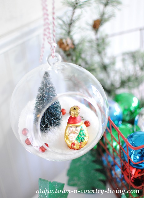 DIY hanging snow globe ornaments - Jennifer Rizzo