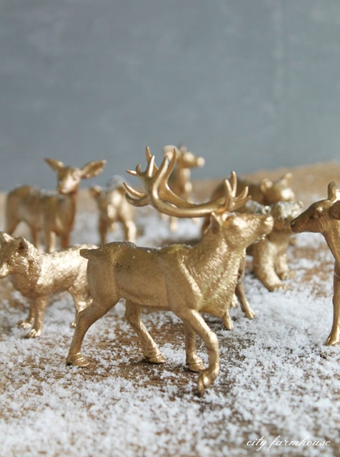 DIY Gilded Woodland Animals