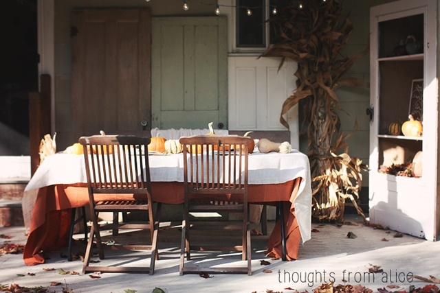 Rustic Outdoor Dining and Entertaining Area