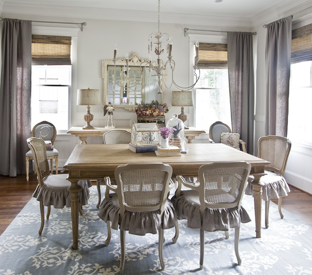 anita s elegant dining room has plenty of natural light streaming