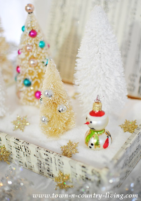 DIY Christmas Decor Created with Decoupaged Cigar Box