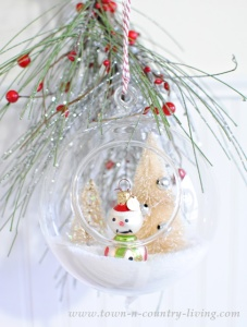 DIY Hanging Snow Globes