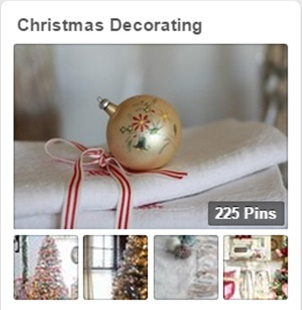Christmas Decorating Board on Pinterest