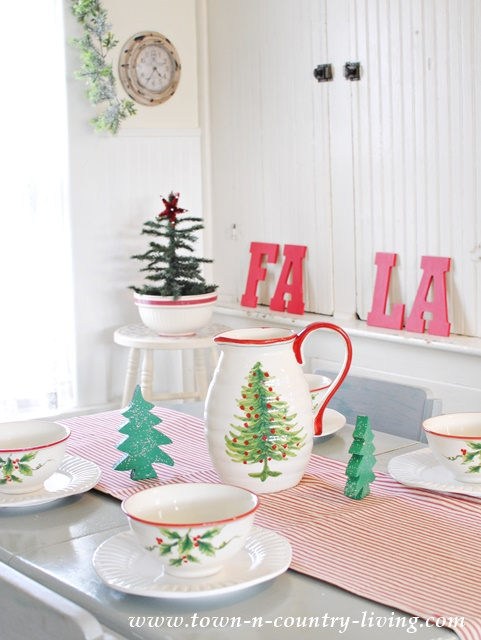 Christmas in a Farmhouse Kitchen