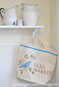 How to Stencil a Canvas Bag ~ Flea Market Style