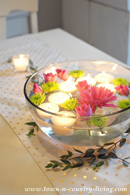 How to make floating tea light candles town country living