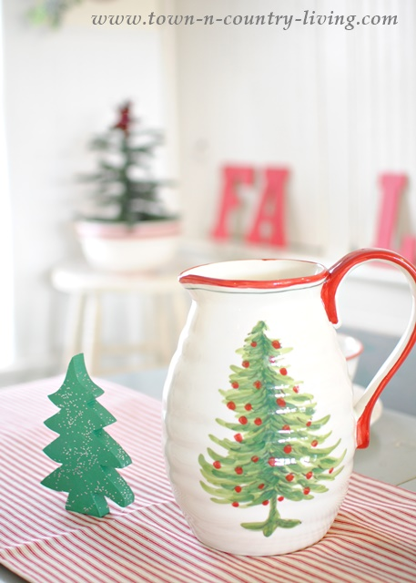 Home Goods Christmas Pitcher