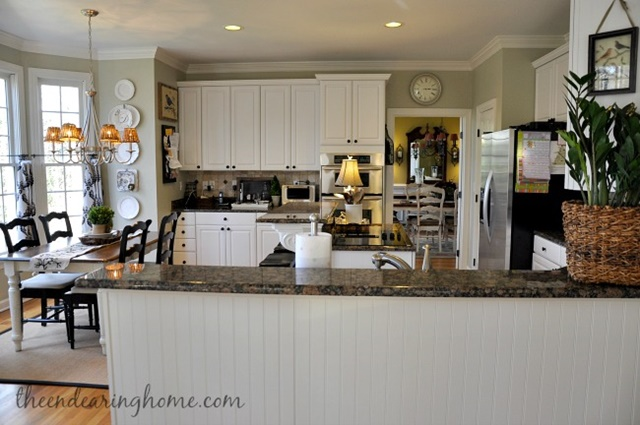 Open Floor Plan Kitchen and Family Room