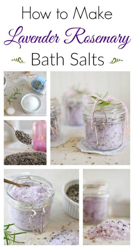 DIY lavender rosemary bath salts