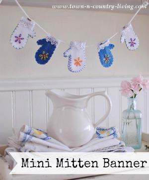 How to make a felt mitten banner