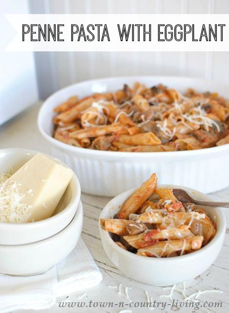 Three Cheese Baked Ziti With Eggplant Recipe — Dishmaps