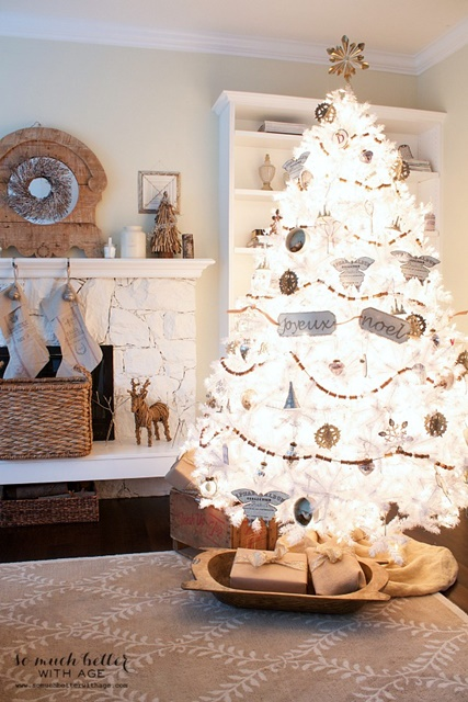 french inspired white christmas tree