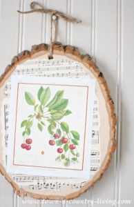 How to Make Decoupage Wood Slice Art