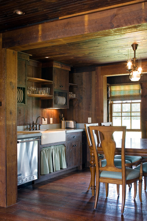 Cabin style decorating ideas town country living for Country living kitchen designs