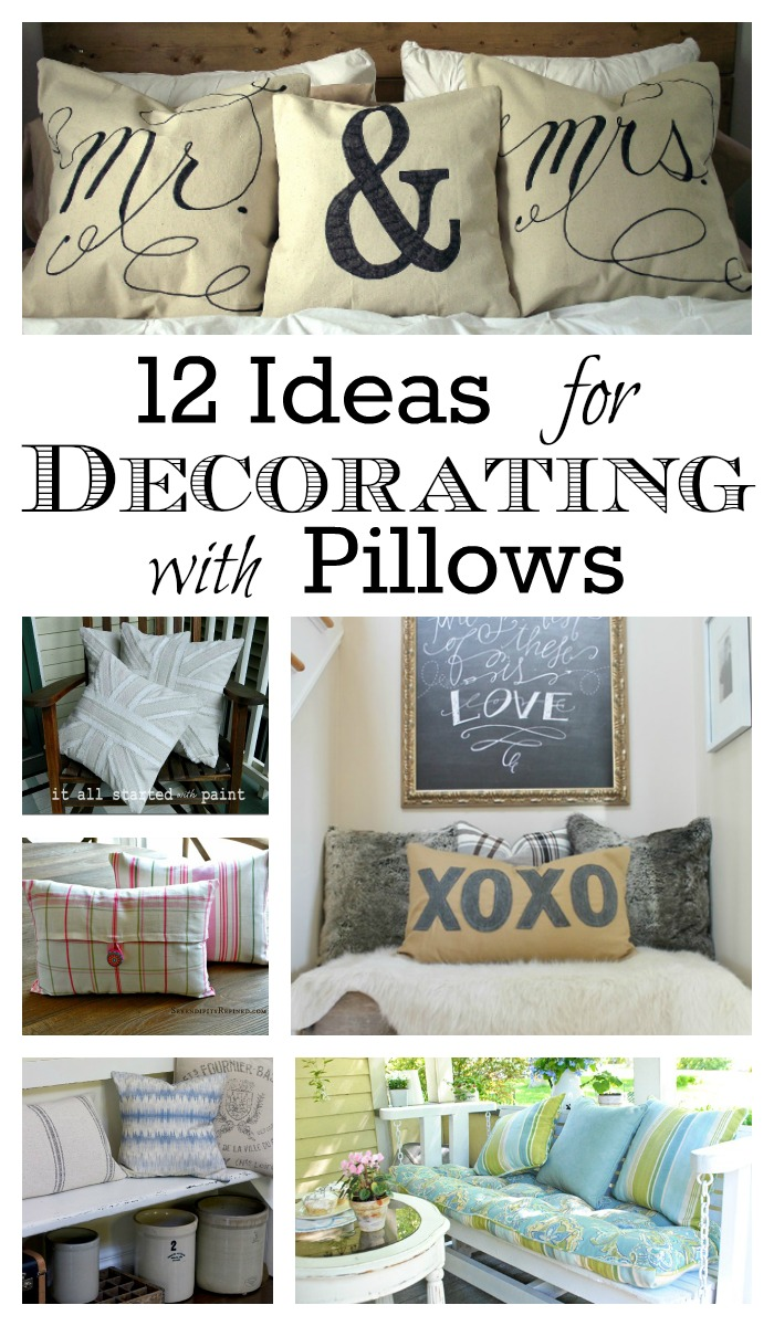 12 Ideas For Decorating With Pillows Town Country Living