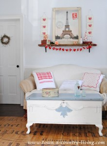 Valentine's Day Decor in the Living Room
