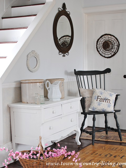 Flea market finds decorate a circa 1875 farmhouse
