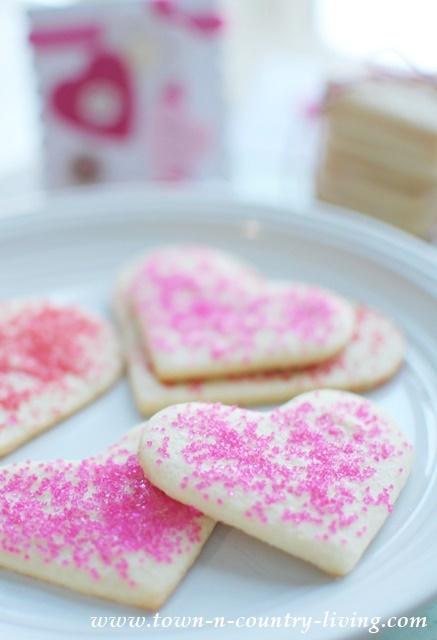 Heart Shaped Sugar Cookies. Super easy recipe!