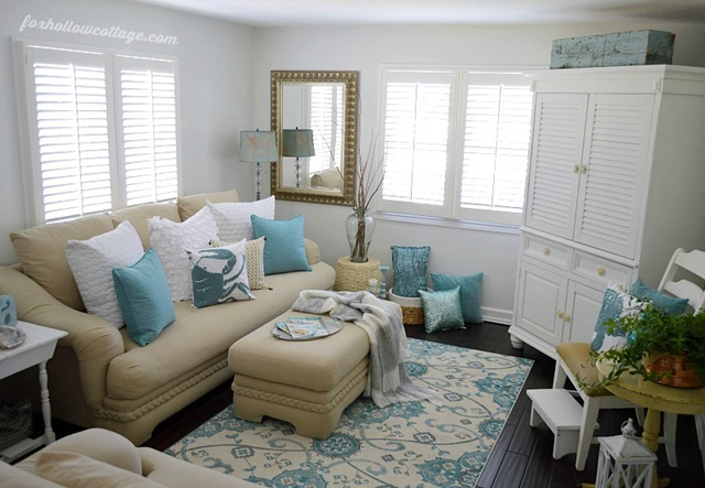 36 Breezy Beach Inspired Diy Home Decorating Ideas: Town & Country