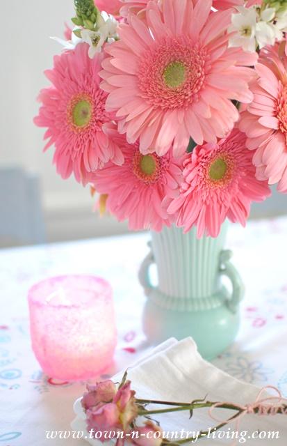 Pink Flower Arrangement of Pink Gerbera Daisies