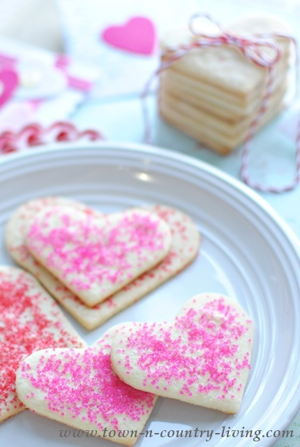 Easy Valentine S Sugar Cookies Town Country Living