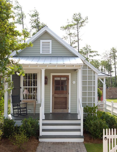 A cozy cottage is the perfect charmer for small house living.