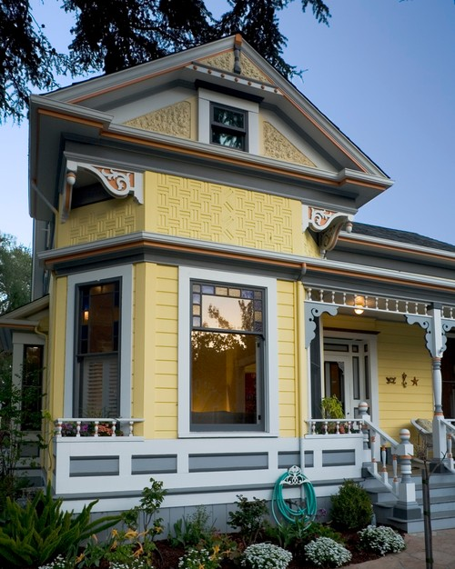 Perfect Yellow Victorian House Exterior ...