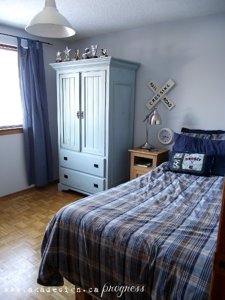Boys Bedroom in blue